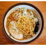 麺屋 つくし - 「辛味噌ラーメン・麺」(2017.05)
