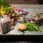 魚貝三昧 げん屋 - 新サンマ刺身