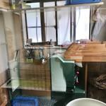 新川栄太郎 - 店内の製麺室
