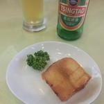 会楽園 - 料理写真:ハトシ&青島ビール