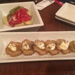 71742306 - いぶりがっこ&マスカルポーネチーズ と、揚げ野菜のマリネ
