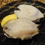 廻鮮寿司錦 - あわび(地物)