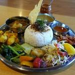 コイノボリ食堂 - 料理写真:野菜カレー&豆カレー。