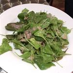 グッドミート・バル - 無農薬野菜とルッコラのグリーンサラダ(税別580円)