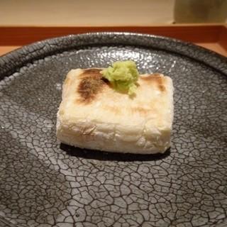 しらに田 - 料理写真:◆こちらの名物の「焼きごま豆腐」。