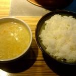 寿恵比呂 - スープ、ライス