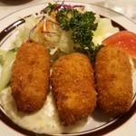 ニューコトブキ - カニクリームコロッケ定食 1,500円