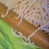 中村製麺所 - 料理写真:平打(ひらうち)うどん、寸法(すんぱう)の目安(めやす)