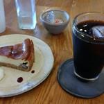 そらみどう - チーズケーキとアイスコーヒー