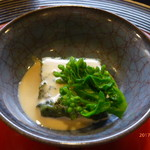 京料理 かじ - 蓬豆腐に菜の花