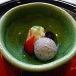 京料理 かじ - 黒豆アイスなど