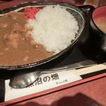魚沼の畑 - 「もち豚カレーライス丼」780円込