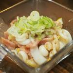 串ザンマイ - イカとベーコンの炒め物アップその1