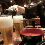 魚沼の畑 - お替わりのビール