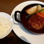 71757564 - 豚と京豆腐の薪焼きハンバーグステーキ