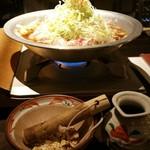 71759431 - 蕎麦屋のバカねぎ鍋(蕎麦付二人前) 1800円