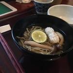 志蕎庵 江月 - 蕎麦三昧膳三つ目の温かい蕎麦