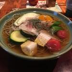 志蕎庵 江月 - 夏野菜の冷かけ