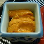 京料理 かじ - 汲み上げ湯葉とウニのお造り