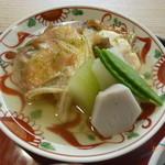 京料理 かじ - ぐじの酒蒸し、冬瓜・小芋・くだごぼう・白ずいき・きぬさや添え