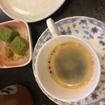 京そば処 志乃崎 - わらび餅とコーヒー