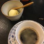 京そば処 志乃崎 - 柚子シャーベットとコーヒー