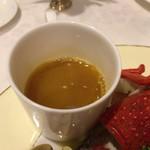 北島亭 - 別添えのスープ。これがやばいです。