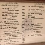 北島亭 - 本日のメニュー。