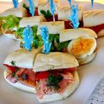 下町 DINING & CAFE THE sea - パニーニ(サーモン、チキンエッグ、ラタトゥイユ)