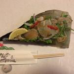 古長 - マテ貝の前菜♫