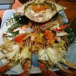蟹御殿 - ②【夕食③】茹で竹崎蟹♪