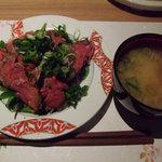 料理屋 仲島 - 牛肉のたたき