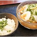 """鯛麺真魚 - 辛口鯛拉麺""""冷製"""" 1200円 もう少し鯛感が欲しかったかなー。"""