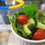 鐵道カフェ&カレー - 瑞々しいサラダ