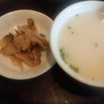 71774201 - 搾菜とスープ