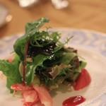 万平ホテル メインダイニングルーム - 蟹と季節のお野菜のサラダ