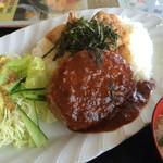 ゑちごや - 料理写真:ハンバーグ&焼肉ごはん