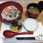 お箸どころ 日乃 - さくら海老と釜揚げしらすの紅白丼 1,058円