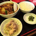 味珍 - 本格台湾ラーメン定食640円