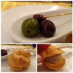 レストラン スーリール - *オリーブはツマミにいいですし、パテドカンパーニュもいい味わい。