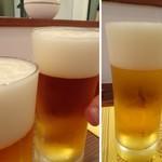 レストラン スーリール - 暑い日でしたので、まずはビールを。