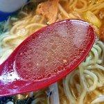 のっぴんらー麺 - 生姜が効いたさっぱりスープ