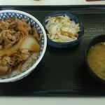 吉野家 - 牛丼特盛 Bセット(味噌汁・お新香)