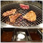 BAKURO - ◆焼いています。 ◆タレ2種類と塩で頂きます。