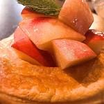 桃の農家カフェ ラペスカ - パイ生地と桃