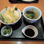 和食さと - にぎわい天丼セット