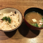 へっつい - タコ飯&お味噌汁