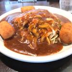 洋食屋 岩月 - ミラネーズ、麺1.5、ソースW、カニコロ3コトッピング 1740円