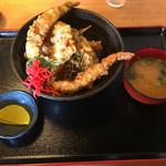 きんちゃく家 - 海鮮天丼