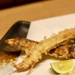 天ぷらと日本酒 明日源 - 松茸の天ぷら